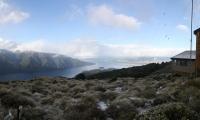 Kepler trek - výhled od chaty na jezero Te Anau