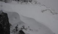 Kepler trek - návěje sněhu